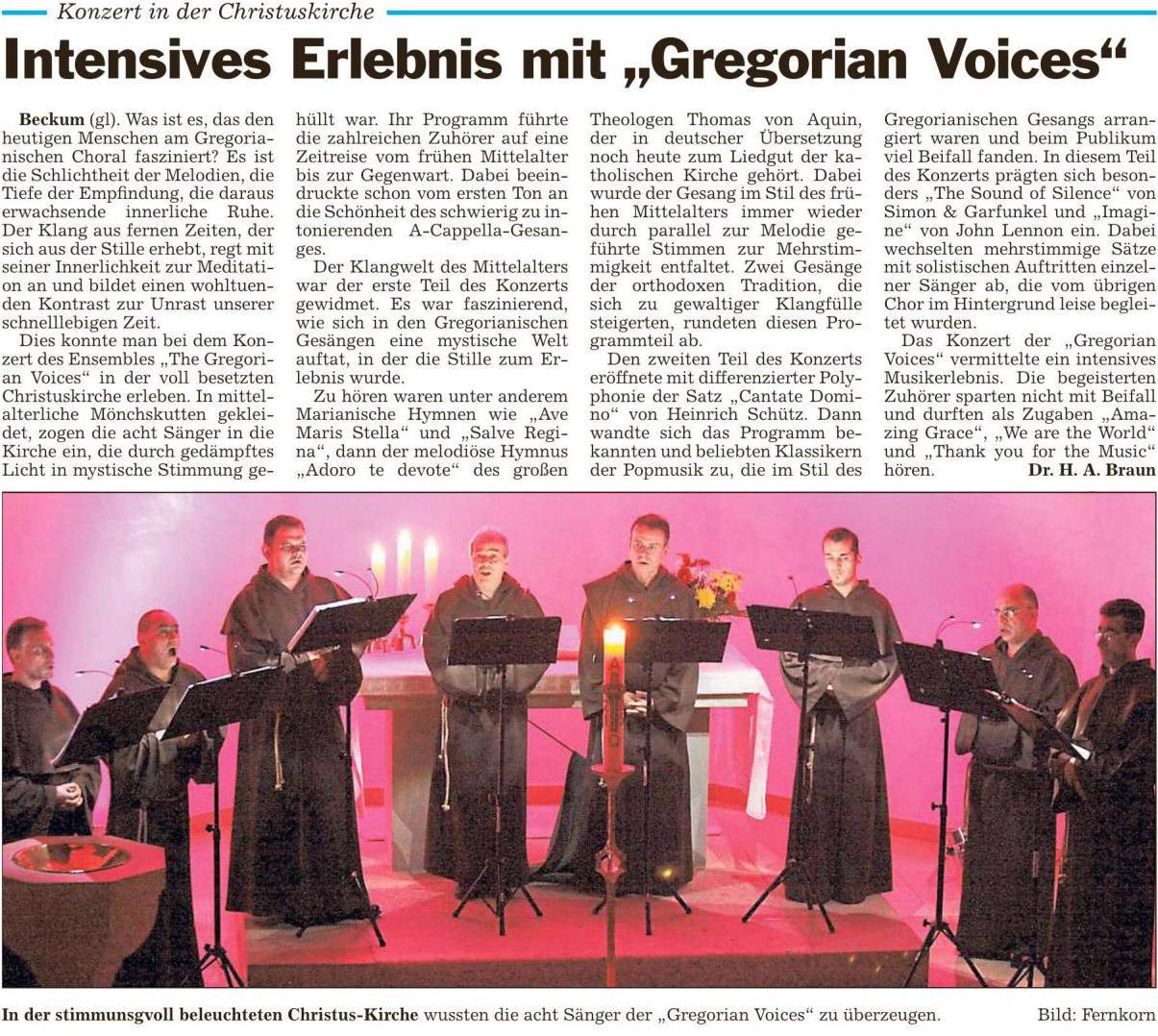 151112 Gregorian Voices