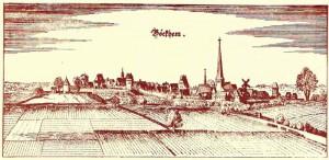 Alte Ansicht der Stadt Beckum
